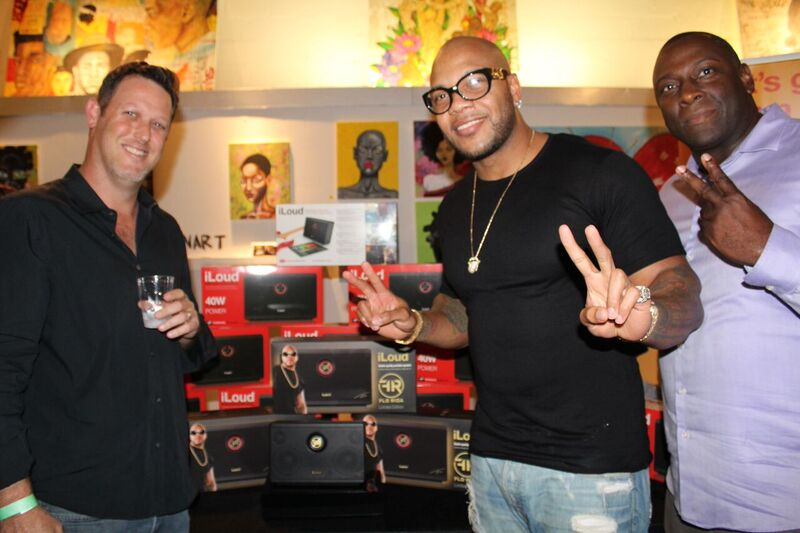 Gary Kerzner from IK Multimedia and Flo Rida at Art Basel Party - Miami