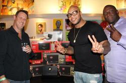 Gary Kerzner from IK Multimedia and Flo Rida at Art Basel Party - Miami