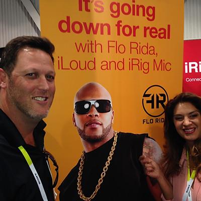Flo Rida iRig Mic and iLoud product launch with IK Multimedia