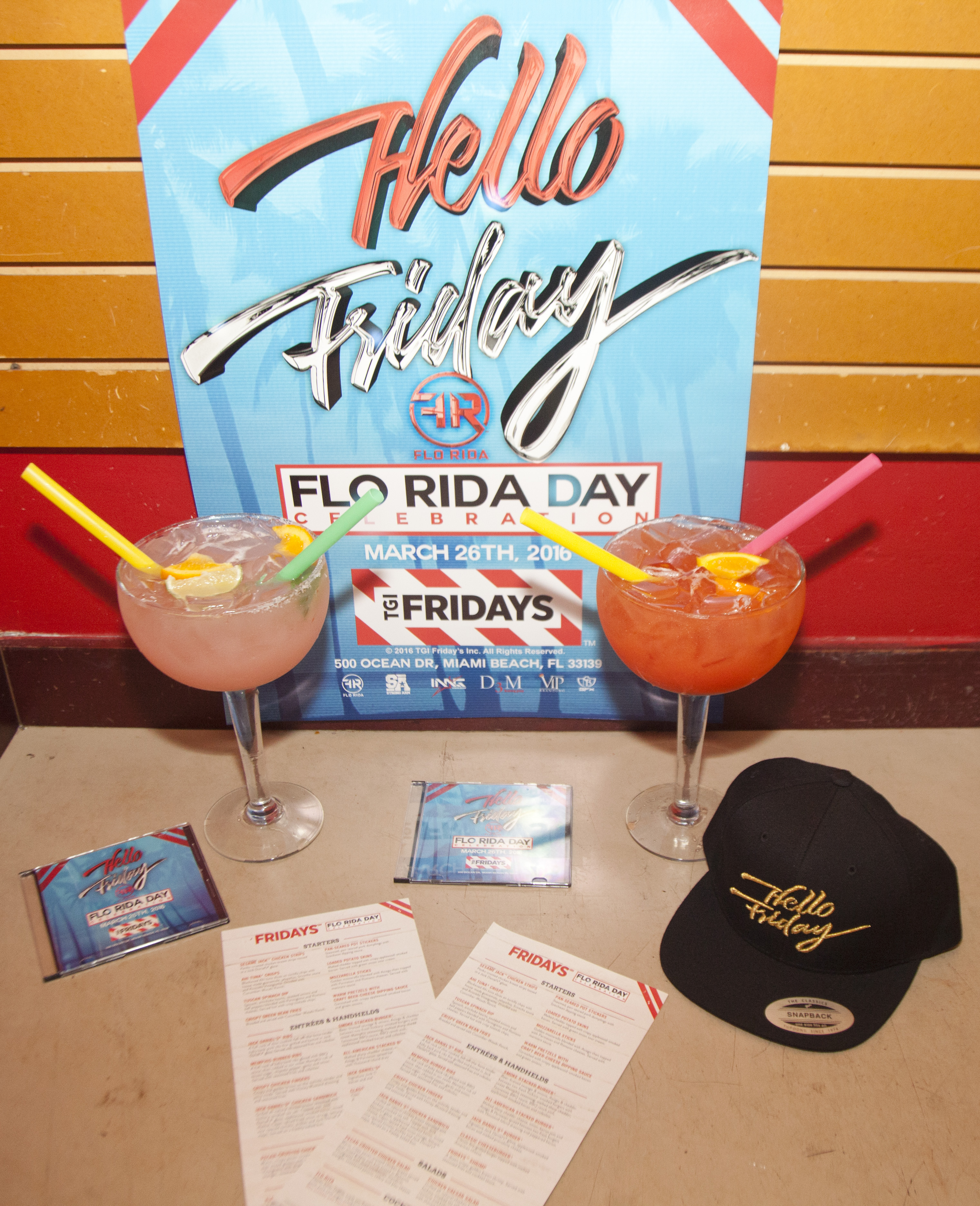 Flo-Rita Specialty Drinks - Flo Rida Day in Miami Beach - TGI Fridays