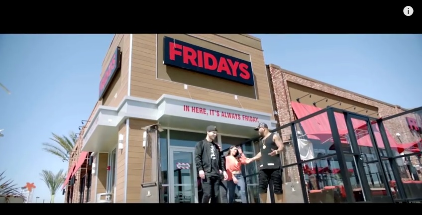 TGI Fridays Placement - Flo Rida Video 'Hello Friday' 1