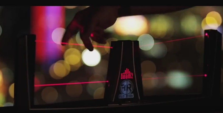 Beamz Product Placement - Flo Rida Video 'Tell Me When You Ready'