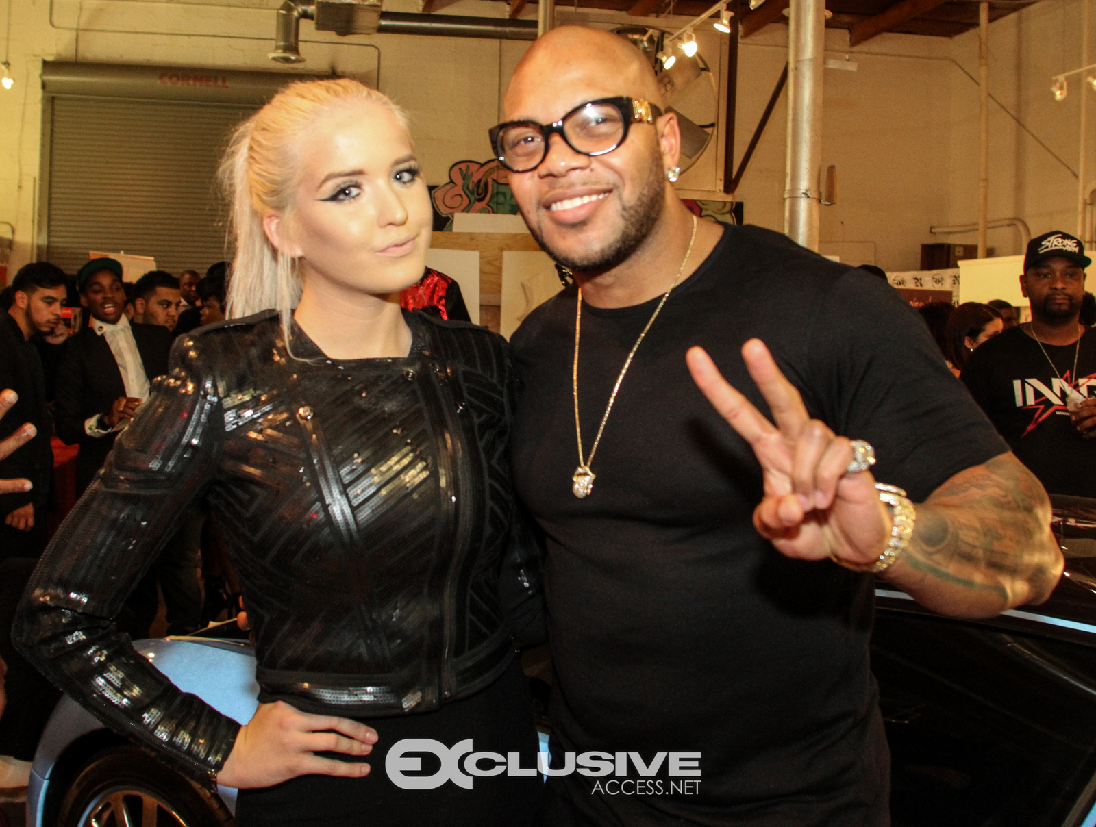 Macy Kate and Flo Rida - Art Basel Party - Miami
