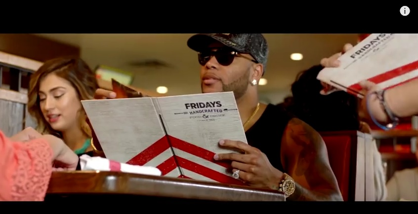 TGI Fridays Placement - Flo Rida Video 'Hello Friday'