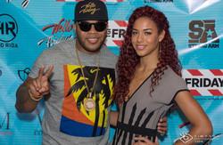 Flo Rida and Natalie La Rose - Flo Rida Day in Miami Beach - TGI Fridays