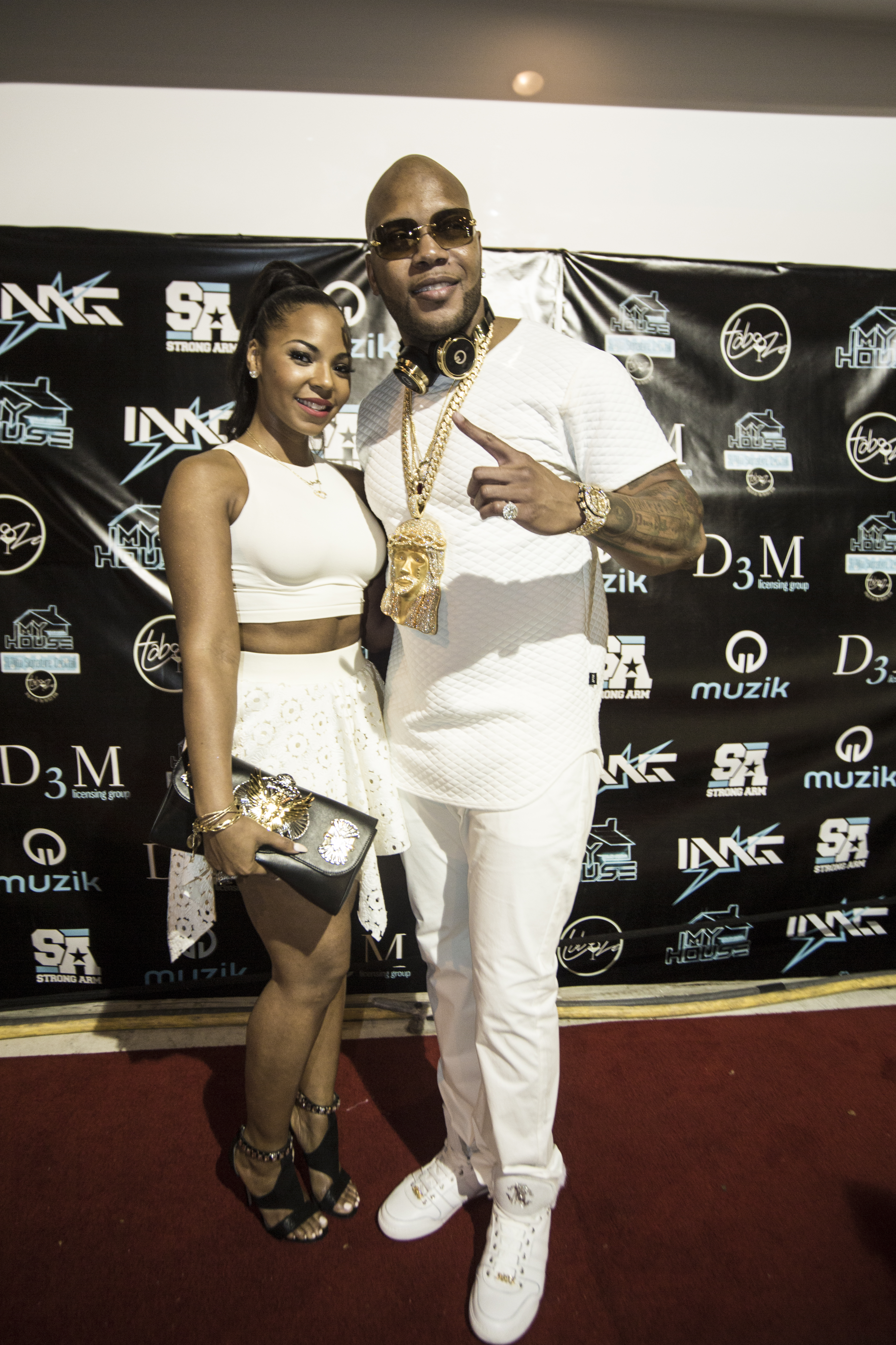 Flo Rida and Ashanti at Flo Rida - My House Album Launch Party - Miami Beach