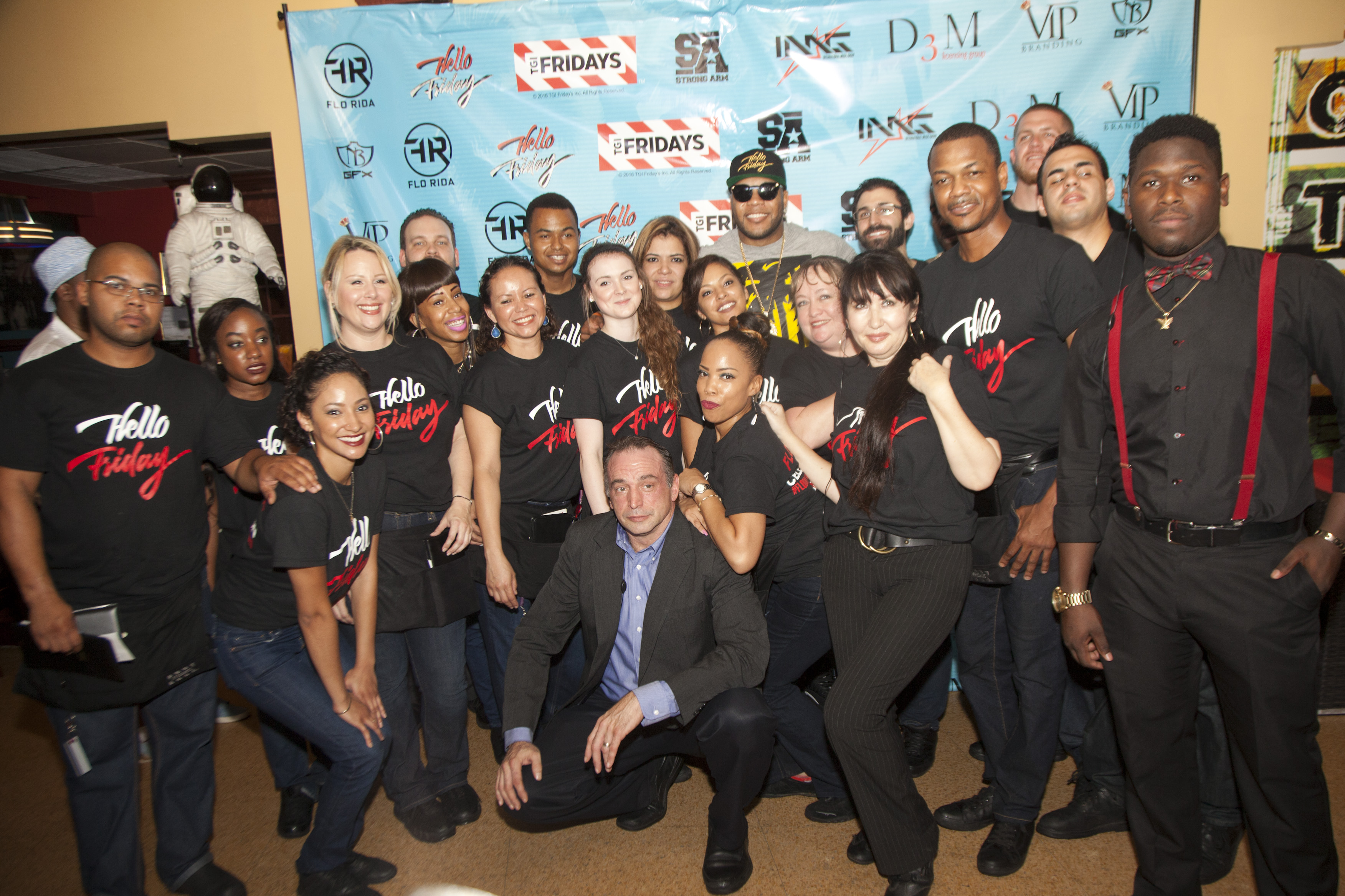 Flo Rida and the Amazing TGI Fridays Crew - Flo Rida Day in Miami Beach