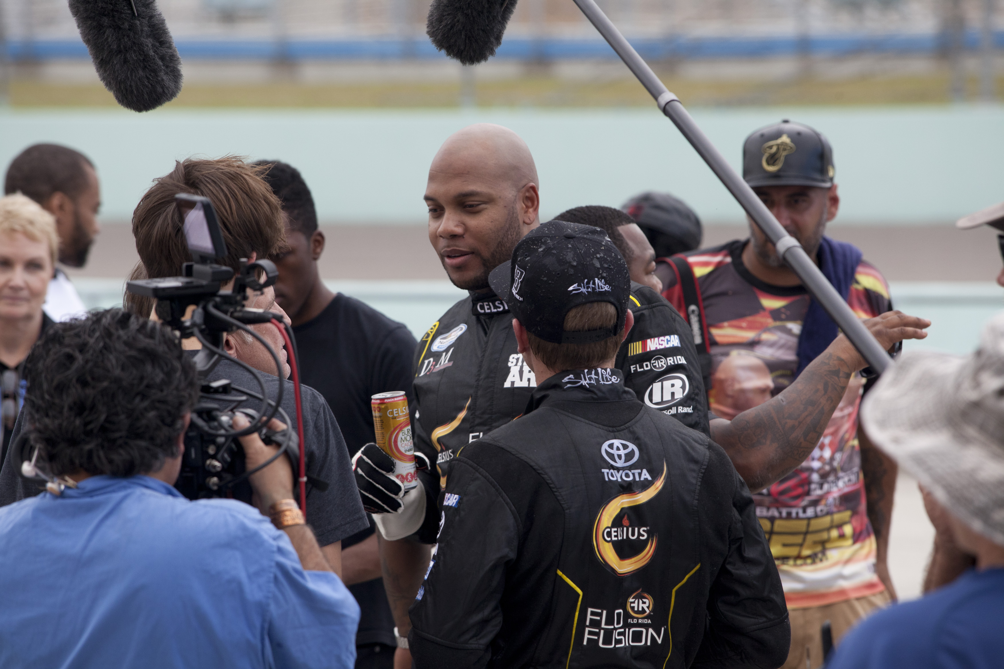 Flo Rida Post-Race - Rapper vs. Racer