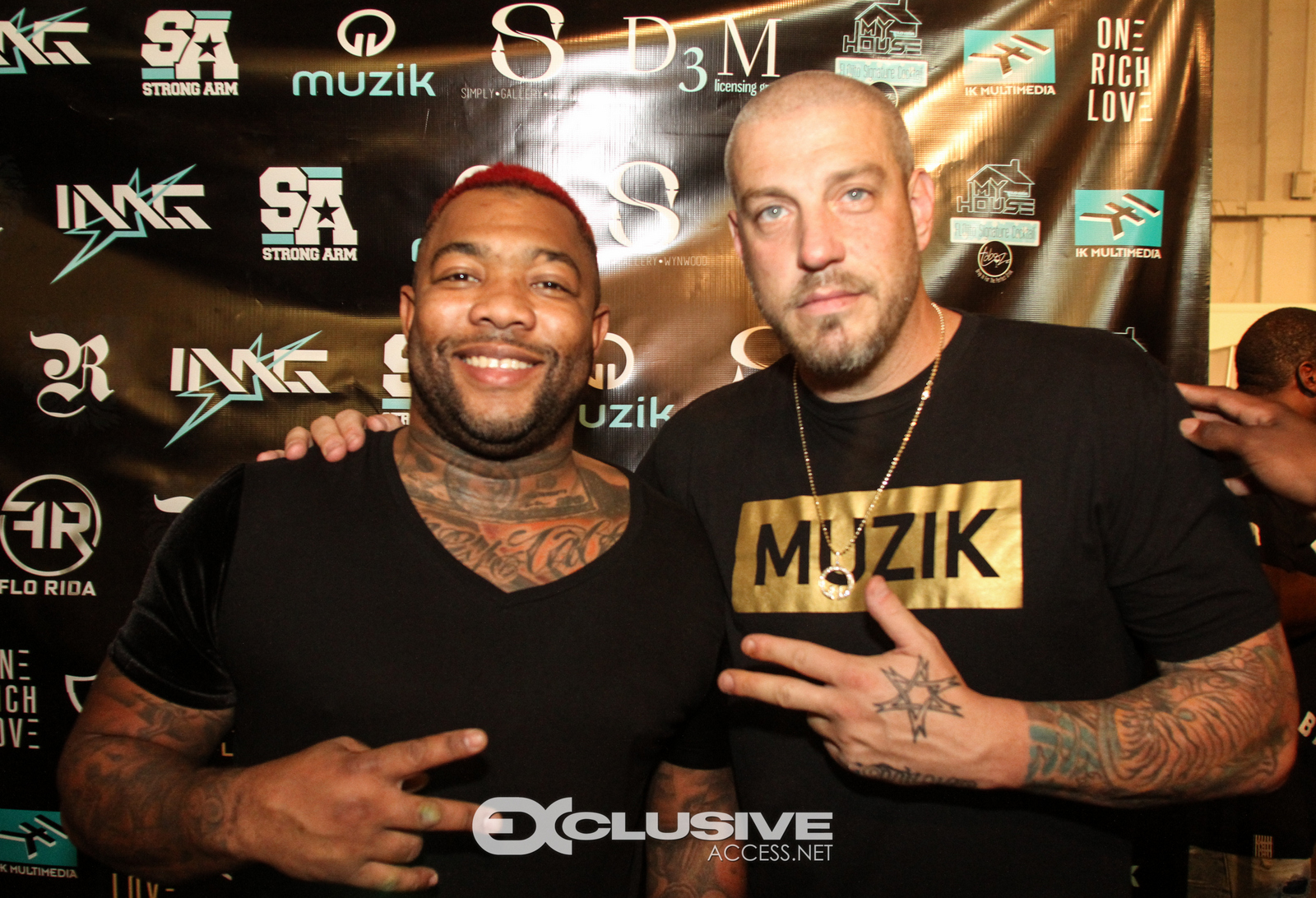 Gorilla Zoe and Jason Hardi from Muzik - Art Basel Party - Miami