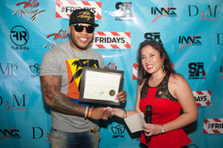 Flo Rida Receives Certificate of Recognition for Flo Rida Day in Miami Beach From Commissioner's Off