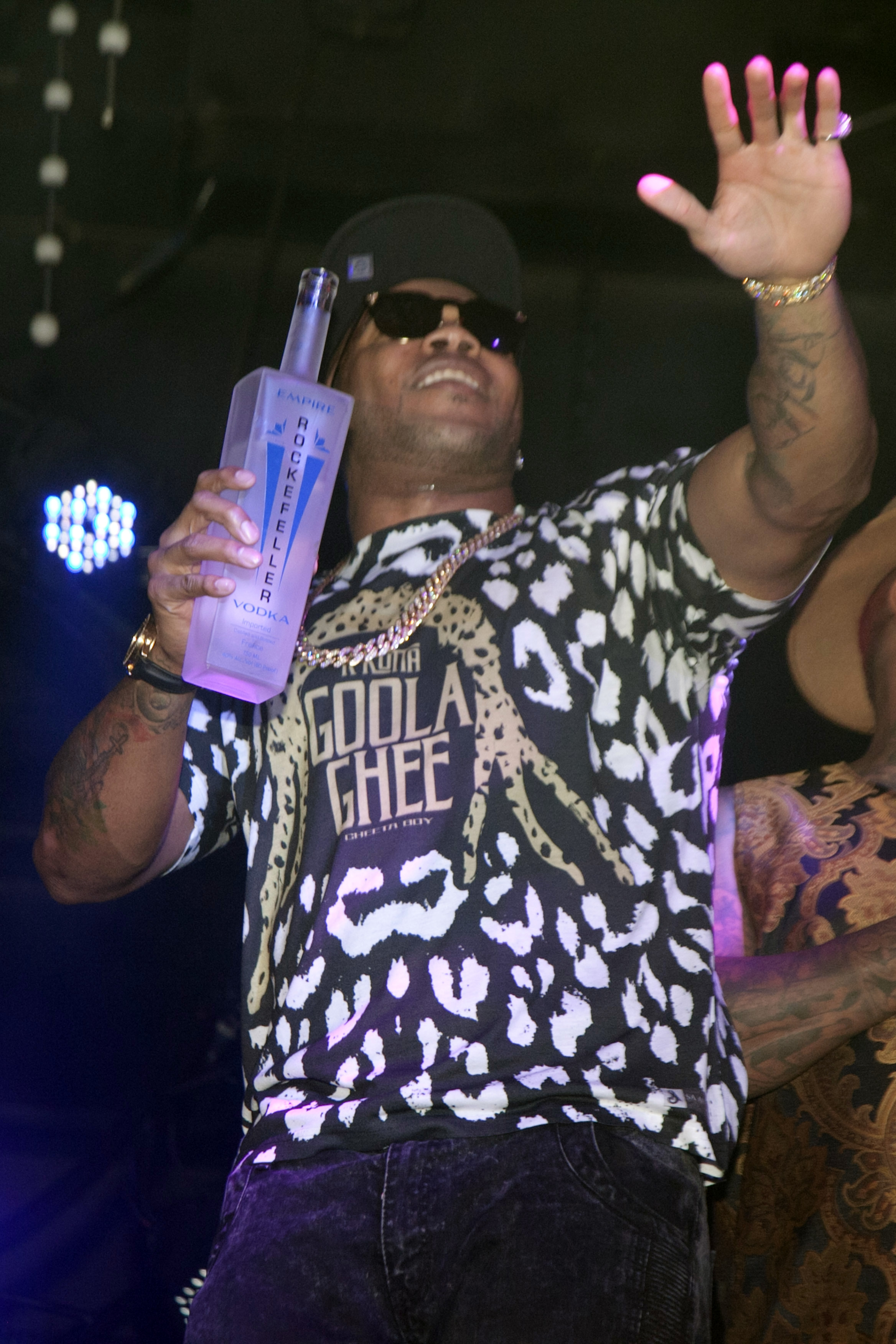 Flo Rida on stage with Vintage Rockefeller Empire Vodka in Las Vegas
