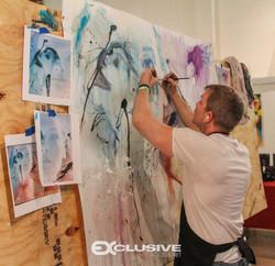 Artist Rob Prior at Flo Rida's Art Basel Party  -Miami