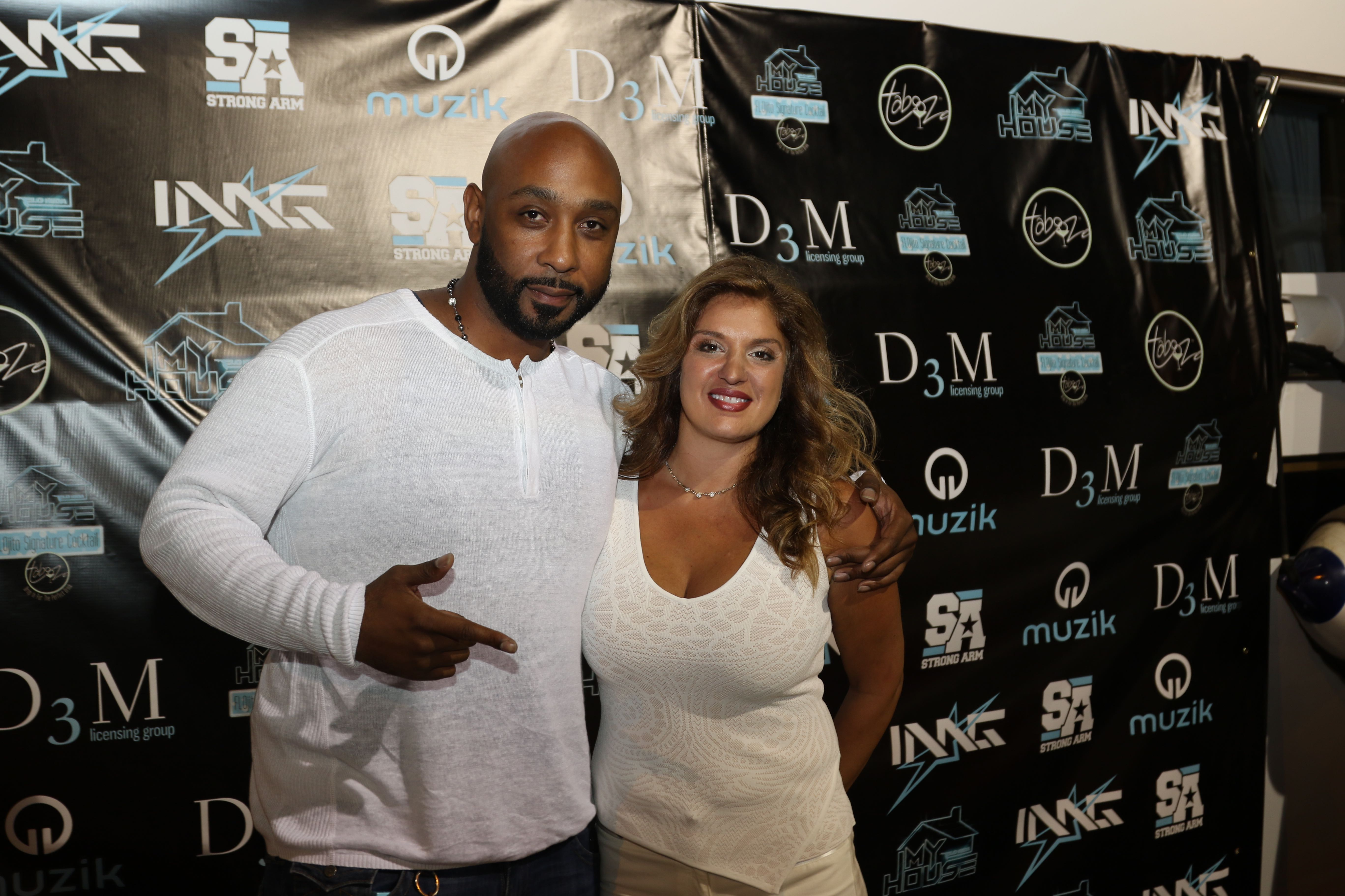 Breyan Isaac D3M CEO Marlo Gold - Flo Rida's  My House Album Launch Party - Miami Beach
