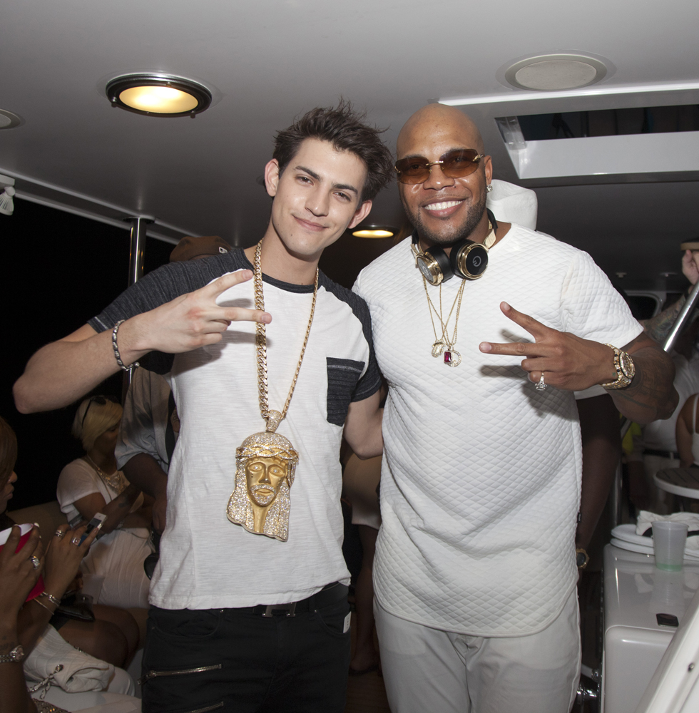 Nick Hissom and Flo Rida - My House Album Launch Party - Miami Beach