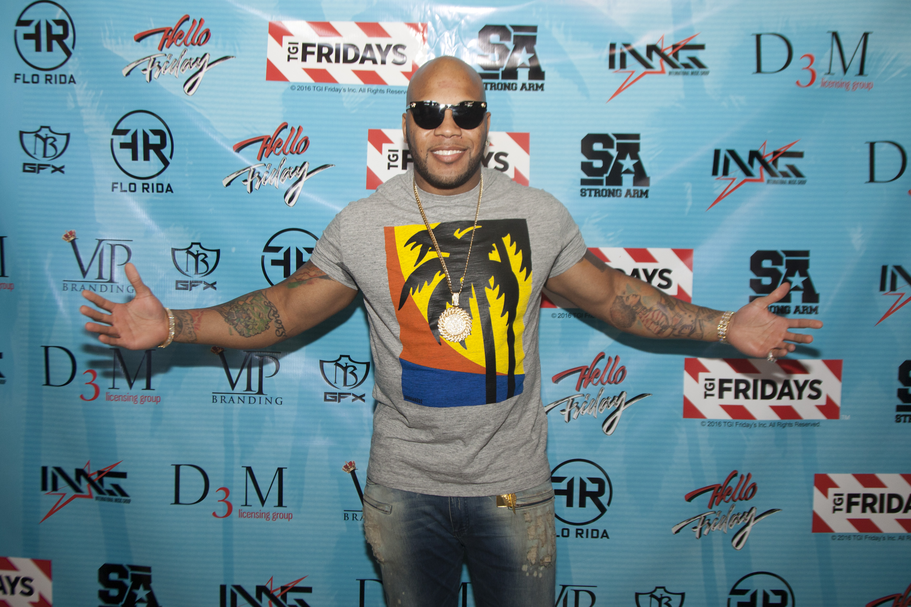 Flo Rida Day in Miami Beach - TGI Fridays