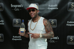 Flo Rida with Seagram's Gin