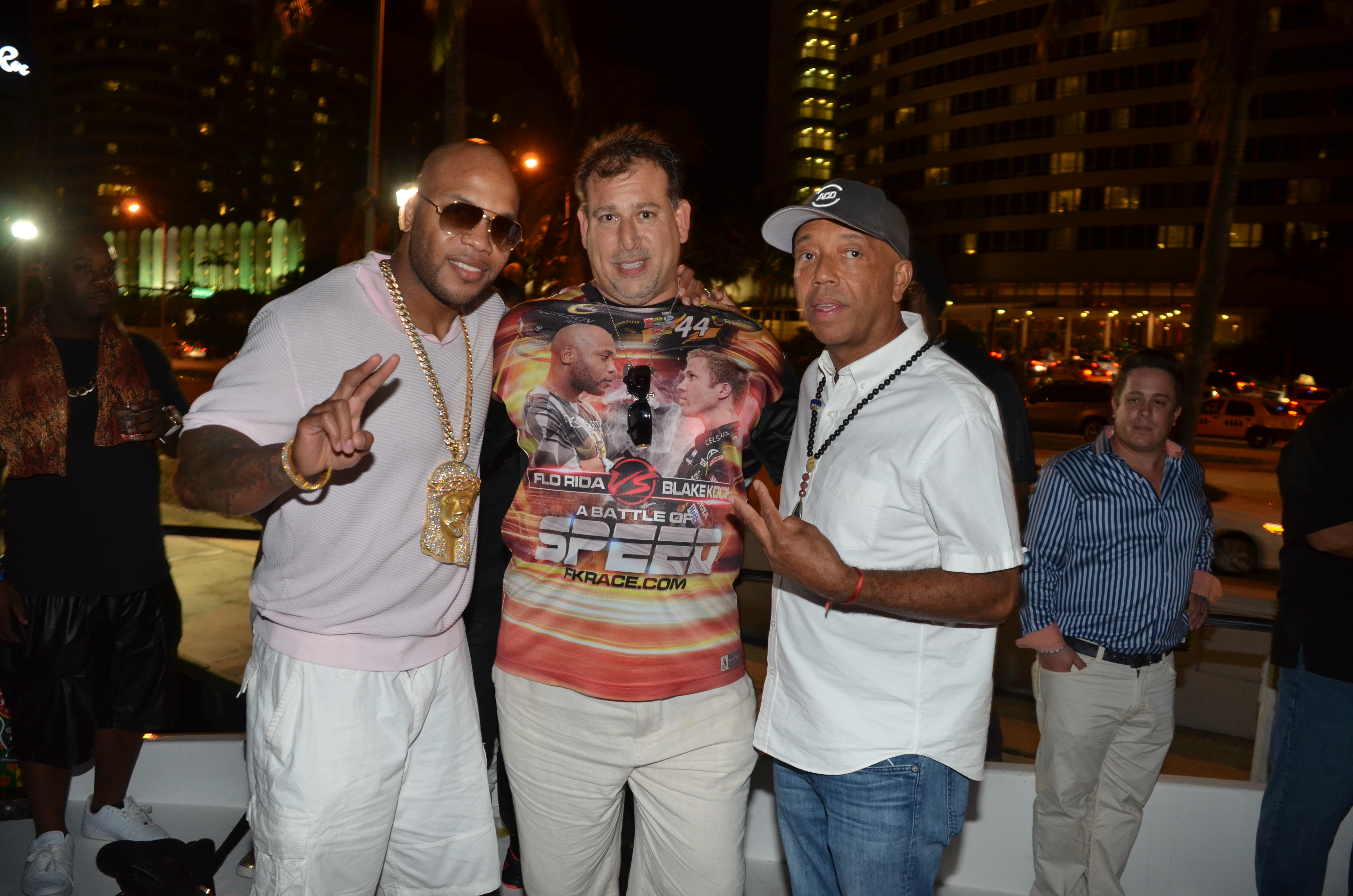 FLo Rida, D3M's David Gold, Russell Simmons at Revolt Music Conference Yacht Party