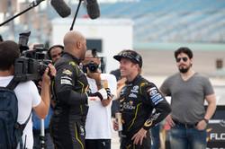 Flo and Blake Post-Race - Rapper vs. Racer