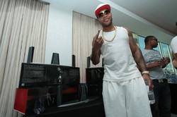 Flo Rida with Beamz by Flo at Gifting Suite - Fontainebleau - Miami
