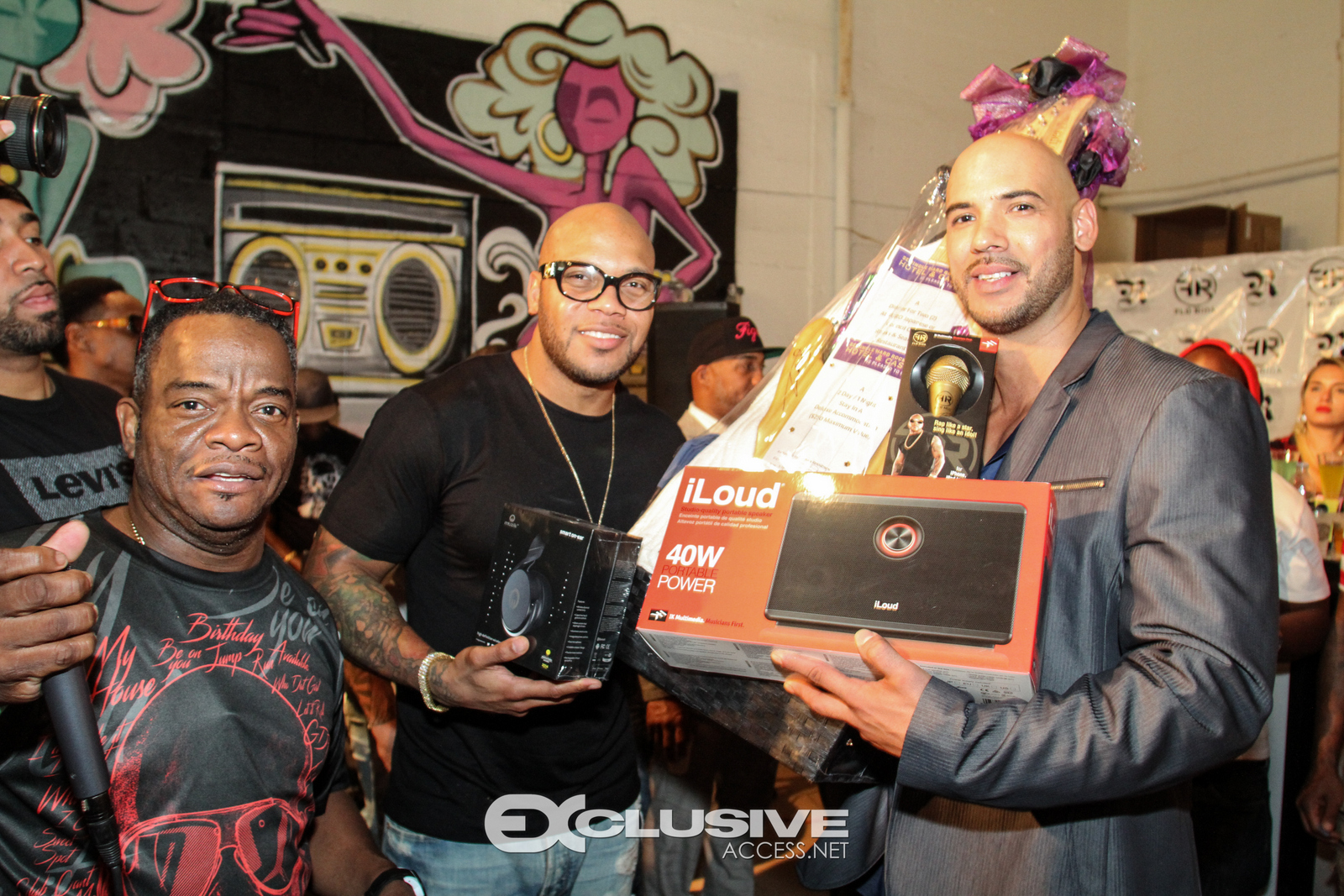 Flo Rida with Prize Winners at Art Basel Party - Miami