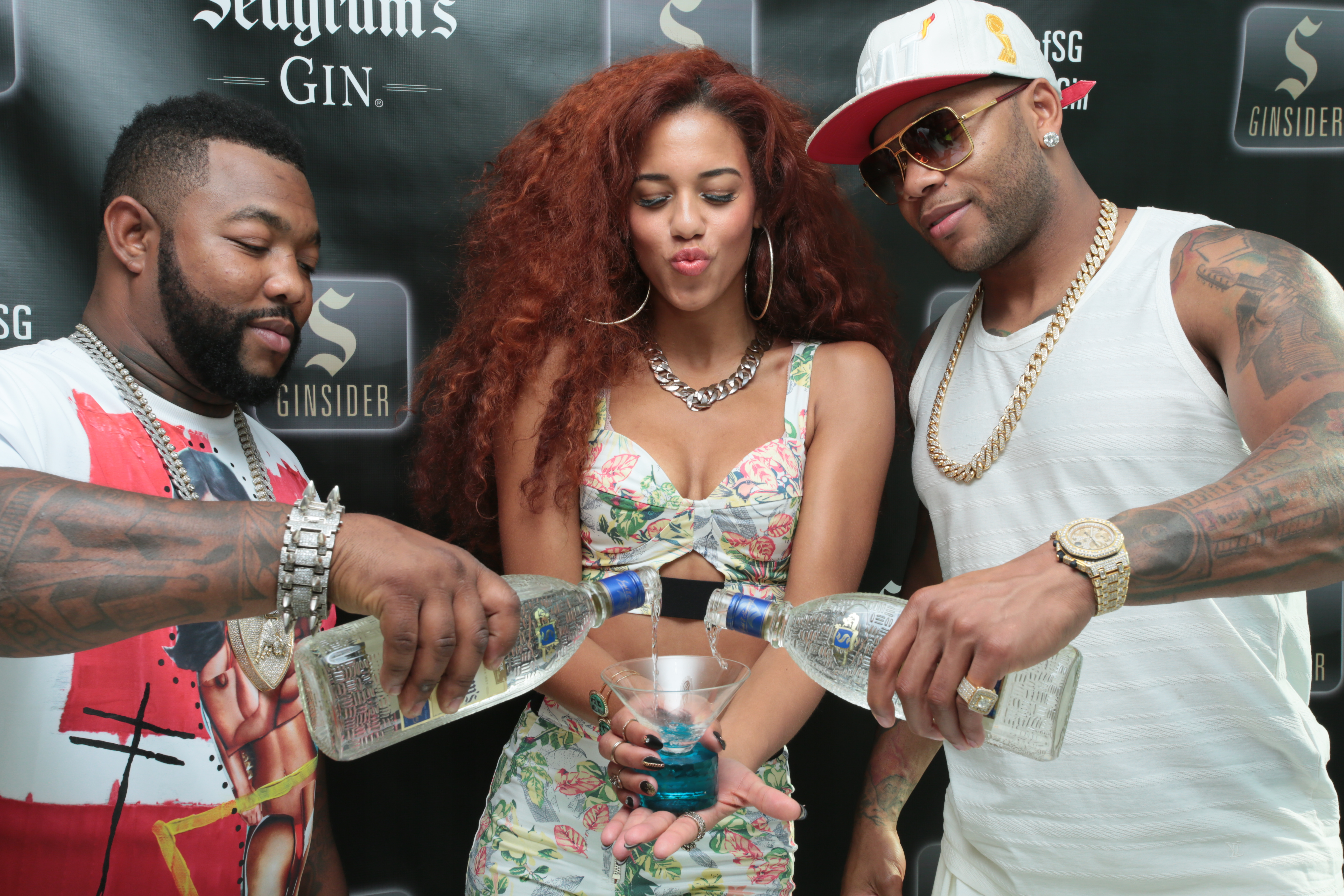 Gorilla Zoe, Natalie La Rose and Flo Rida at Flo Rida Gifting Suite - Fontainebleau - Miami