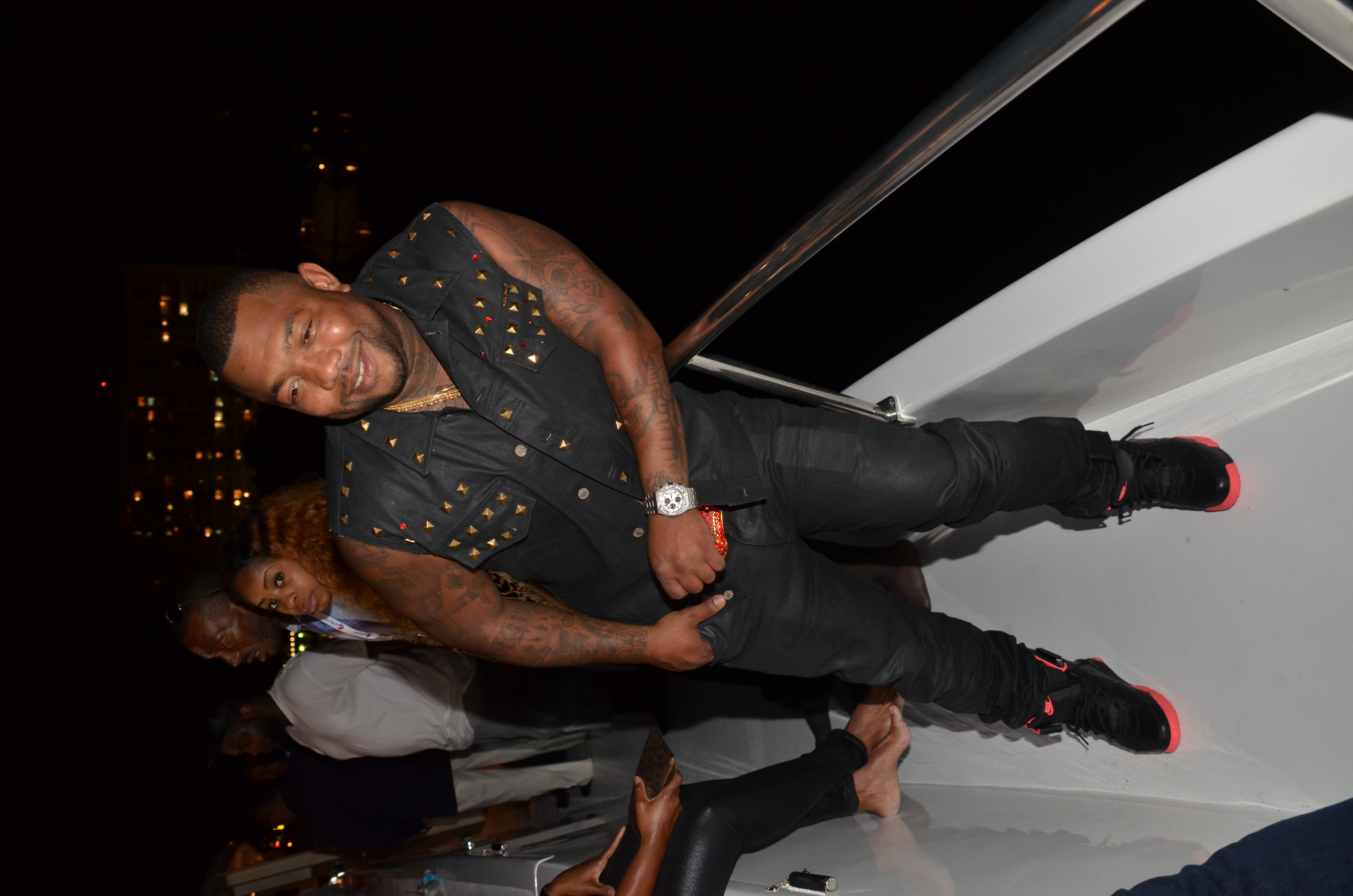 Gorilla Zoe at Revolt Music Conference Yacht Party