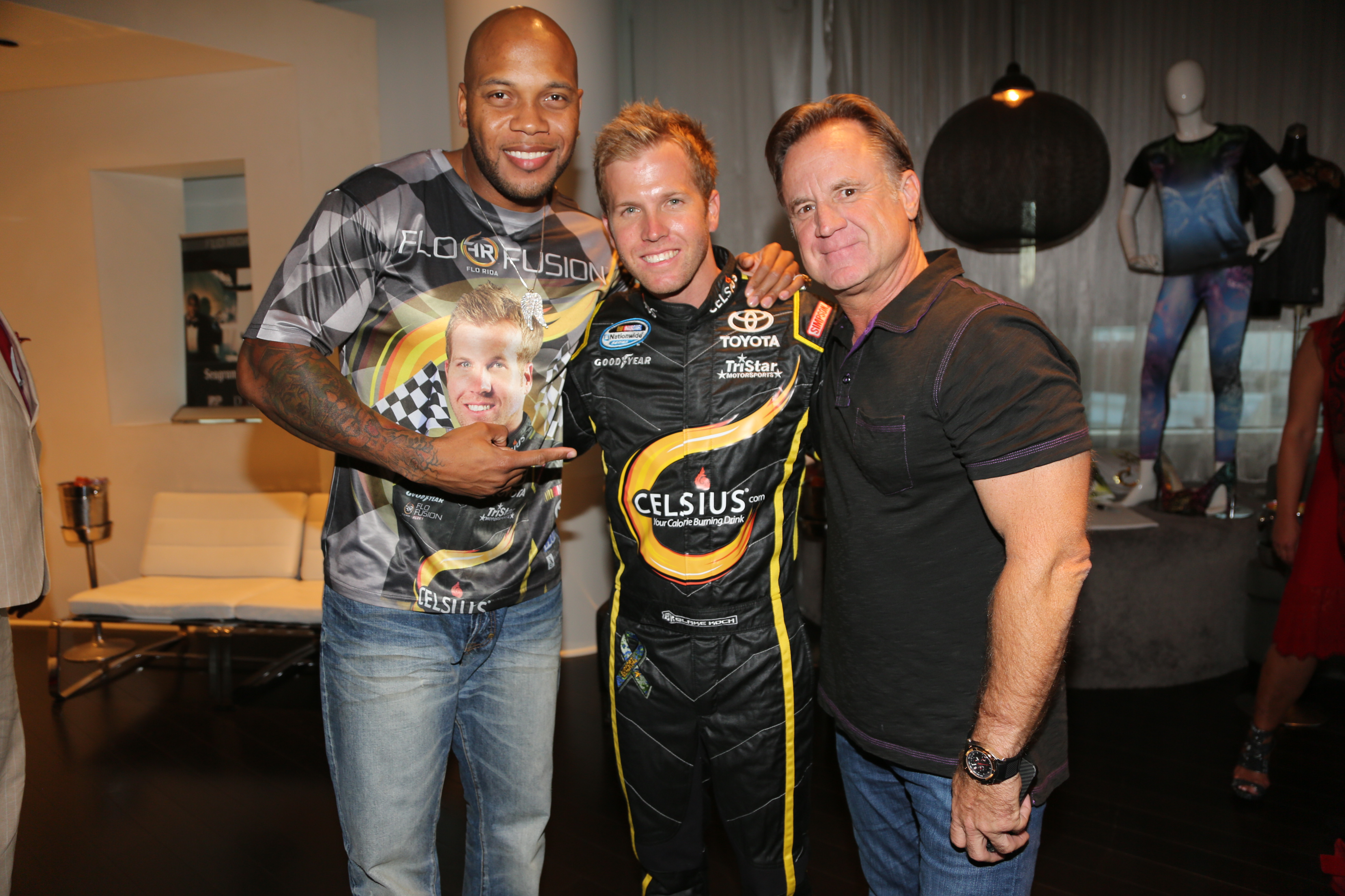 Flo Rida, Blake Koch, Mark Koch at Flo Rida's VMA Gifting Suite