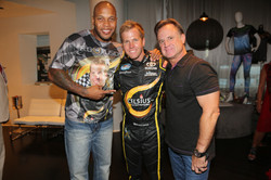 Flo Rida, Blake Koch, Mark Koch at Flo Rida's VMA Gifting Suite