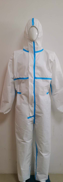 Anti-virüs-Hazmat-elbise-beyaz-tulum-kor