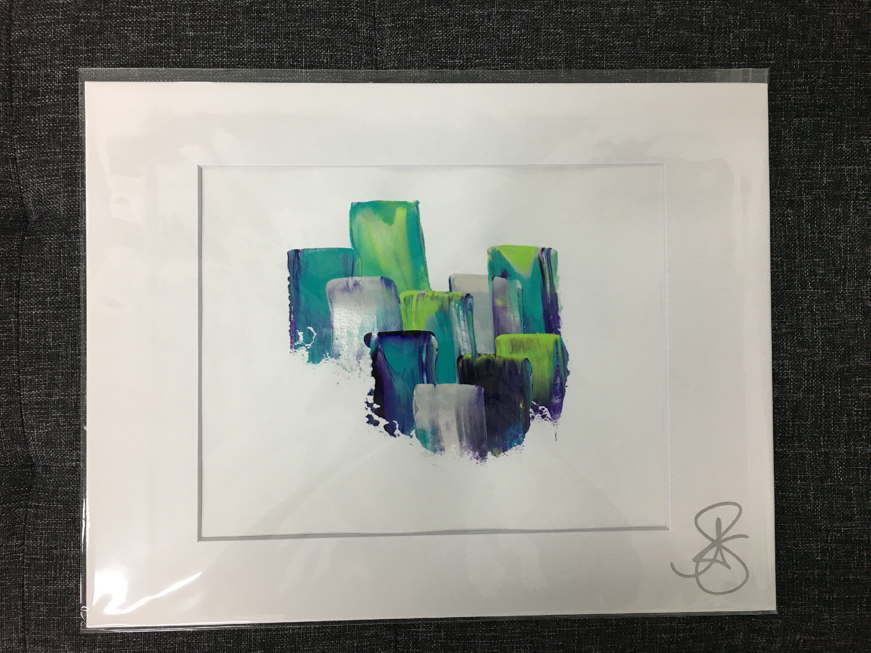 Sampled Matted Painting