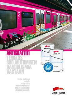 Antigraffitilakka suoja graffiteja vastaan