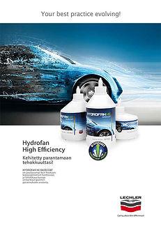 Hydrofan HE vesibase mahdollistaa 2 työmenetelmää 1 järjestelmästä