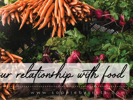Your relationship with food.
