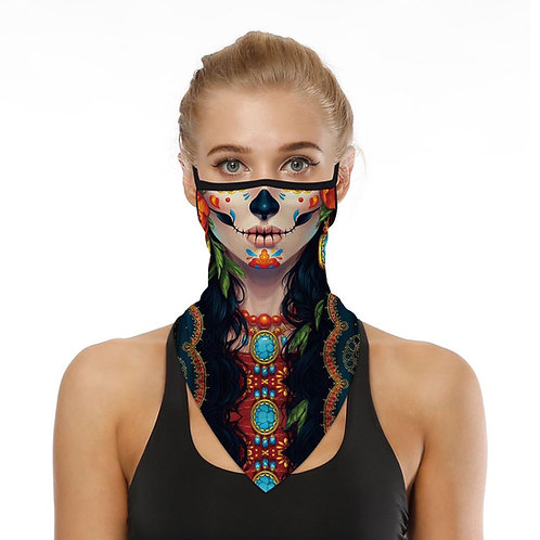 Day of the Dead Dust Cover with Neck Extension