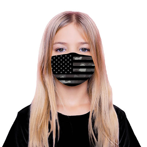 Grey Flag Face Mask with 5 Replaceable Filters