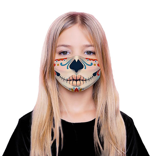 Day of the Dead Face Mask with 5 Replaceable Filters