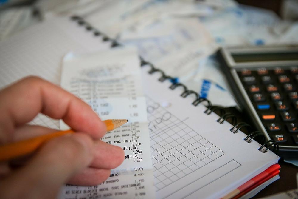 Rechnung Block, Steuern, Rechnen