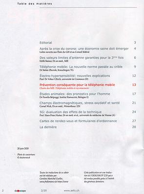 Oekoskop table des matières.png