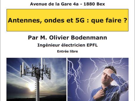 """Présentations """"Electrosmog et 5G"""" le 10, 14 et 16 janvier à 20h"""