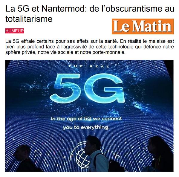 5G de l'obscurantisme au totalitarisme.P