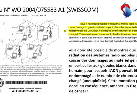 Swisscom : les ondes EM modifient l'ADN et peuvent causer un cancer