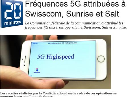Suisse : Les fréquences 5G ont été attribuées aux opérateurs télécoms