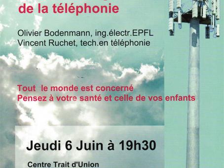Conférence Electrosmog et 5G à Courroux (JU)