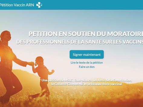 Pétition en soutien du moratoire sur les vaccins ARN