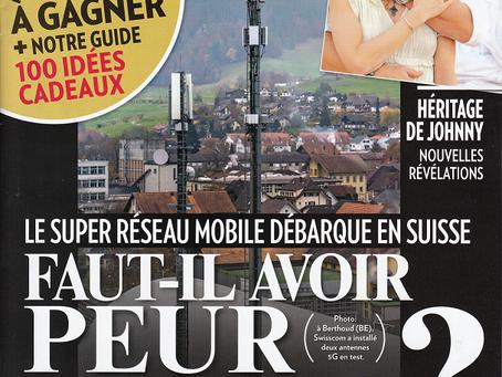 """""""Faut-il avoir peur de la 5G?"""" (L'Illustré 21.11.2018)"""