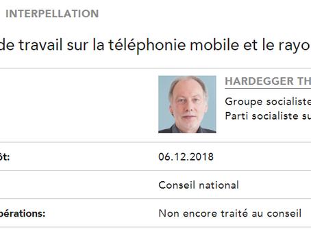 Interpellation 18.4147 : groupe de travail sur la téléphonie mobile