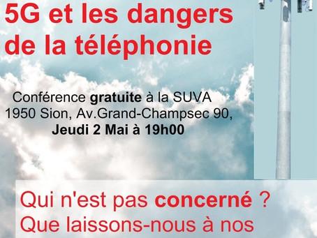 Conférence Electrosmog et 5G à SION