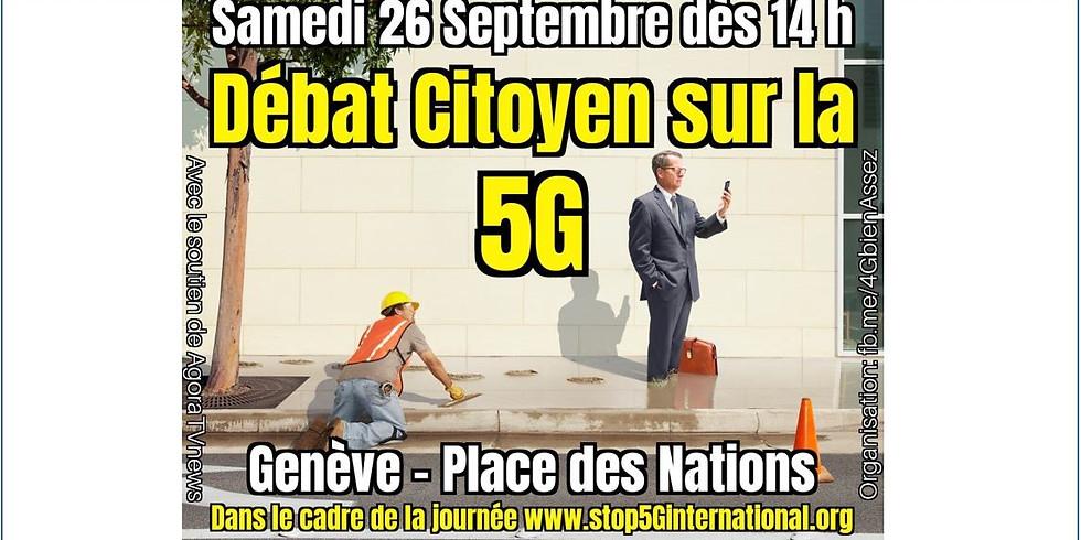 Samedi 26/09 : Débat citoyen sur la 5G à Genève