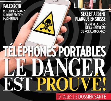 """""""Téléphones portables : le danger est prouvé"""" - Magazine """"L'Illustré"""", 25 ju"""