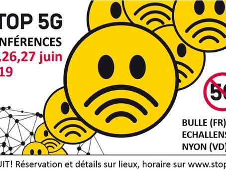 Conférence STOP 5G à Bulle, Echallens, Nyon